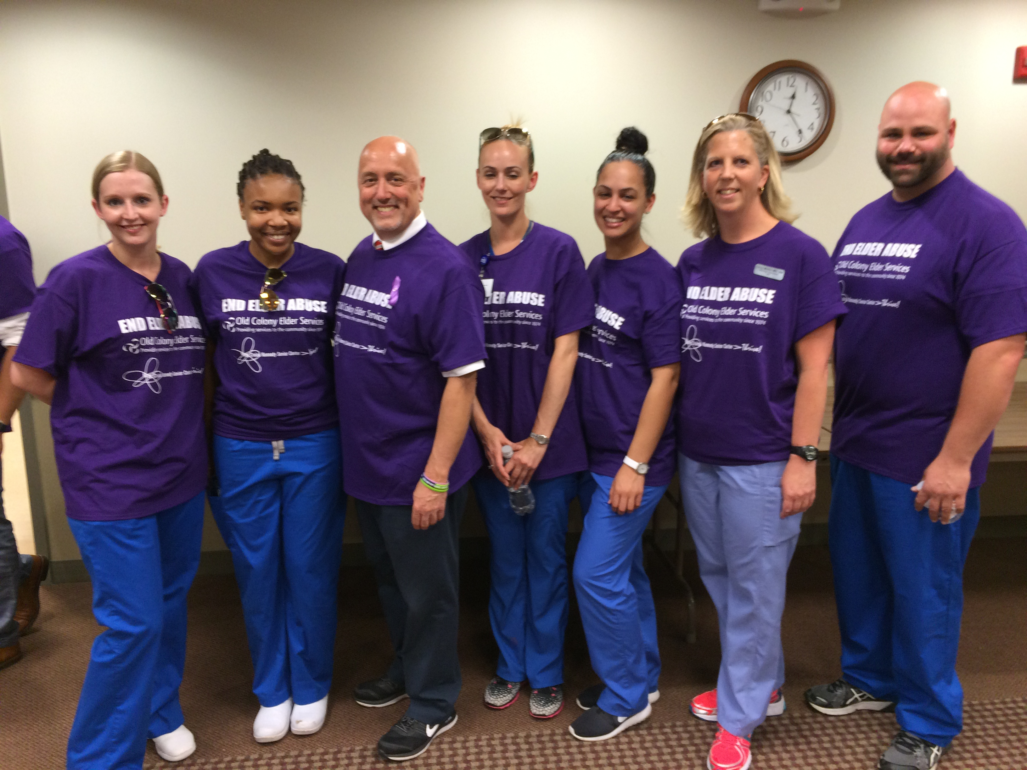 STI Nurses Participate in March to End Elder Abuse in Brockton