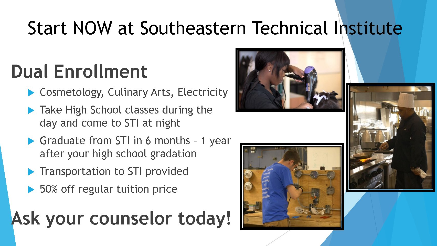 Dual Enrollment for In-District High School Students