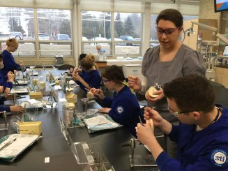 Dental Assisting Students Learn About the Specialty Field of Orthodontics and Oral Hygiene